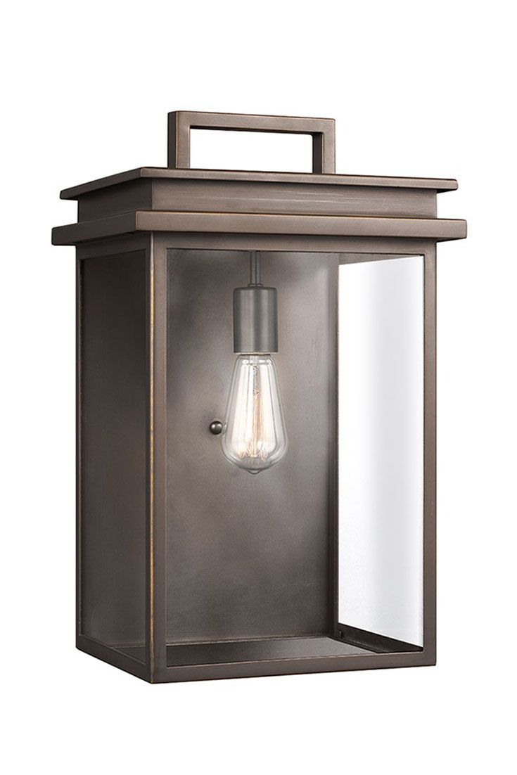 Glenview 1 Light Outdoor Wall Lantern By Feiss Large The Prairie Style Is Known For Simple Wall Lantern Outdoor Wall Lighting