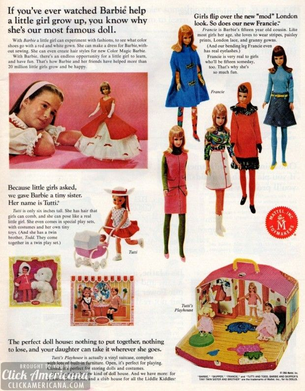 Latest Mattel toys & games for Christmas (1966)  Read more at http://clickamericana.com/eras/1960s/latest-mattel-toys-games-christmas-1966 | Click Americana