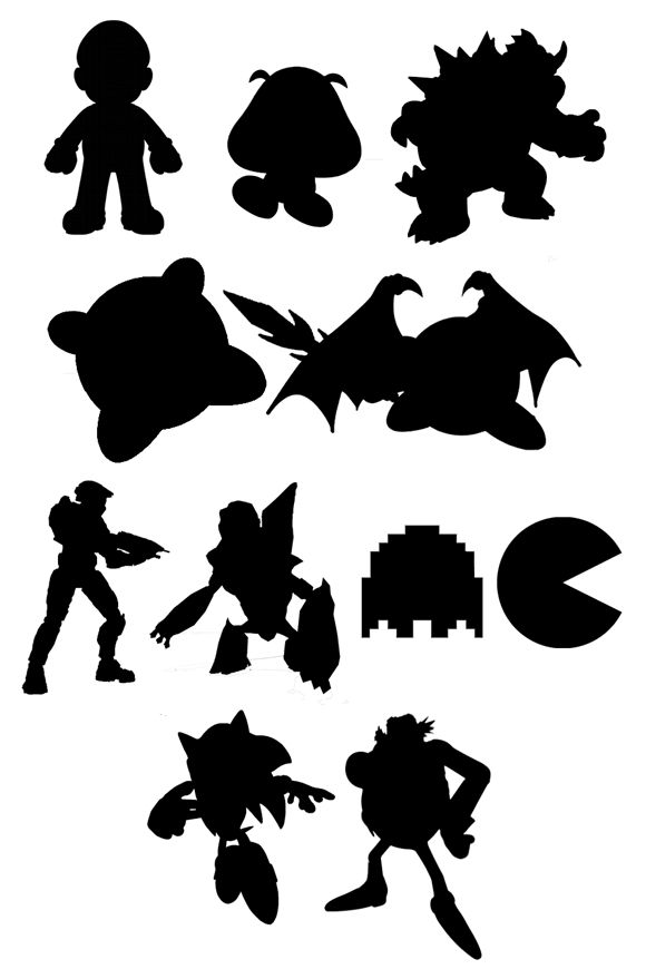 Videogame Silhouettes If I Ever Get A Silhouette Cutter Art