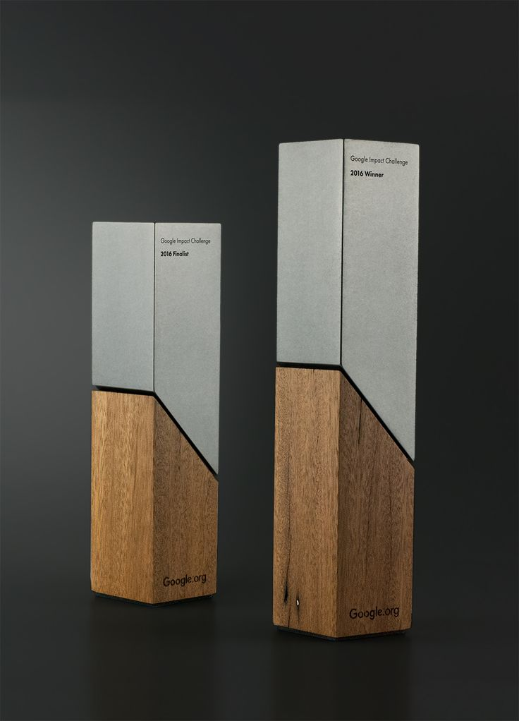 Google Impact Challenge Awards Trophies | Made from salvaged sustainable Australian timber
