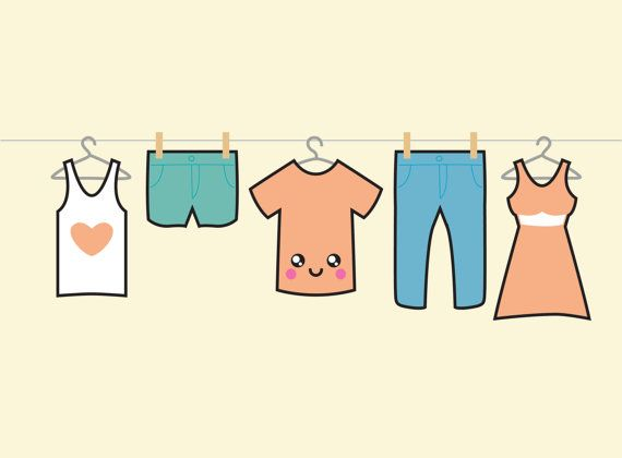 Clip Art Blue Jean Day: 297 Best Images About Clothesline Illustrations On
