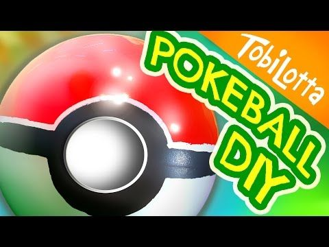 Pokeball selber machen | Pokeball DIY | Pokemon Go DIY | Kinderkanal- Tobilotta 55 - YouTube