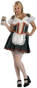 Beer Garden Girl Plus Size Costume (more details at Adults-Halloween-Costume.com #oktoberfest #halloween #costumes