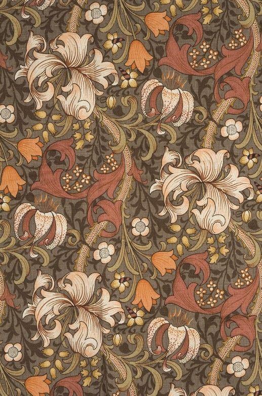 design-is-fine:  William Morris, textile design Golden Lily, 1899/1920s A. Sanderson Fabric, London. Jacksons.se