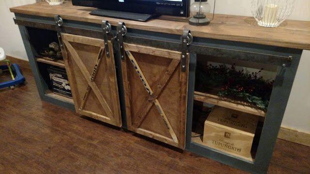 DIY Sliding Door Console - The Bombshell Garage