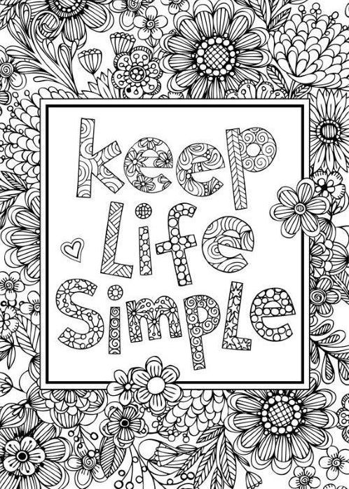 Inspiring Quote Coloring Pages Ideas Coloring Mandalas in ...