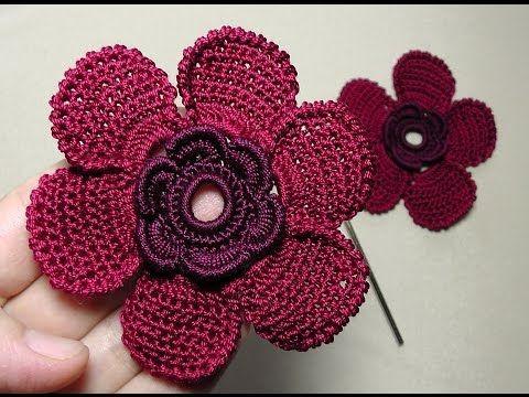 Todo crochet: CURSO CROCHET: Cómo tejer una preciosa flor crochet - video