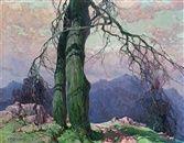 Einsamer Baum im Gebirge by Stepan Feodorovich Kolesnikov