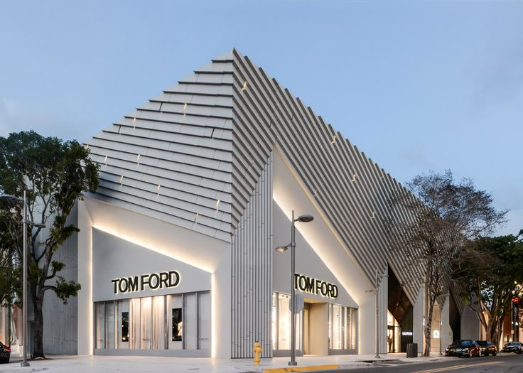 US firm ArandaLasch has completed a store for designer Tom Ford in the Miami Design District, featuring an angular facade referencing bold Art Deco motifs