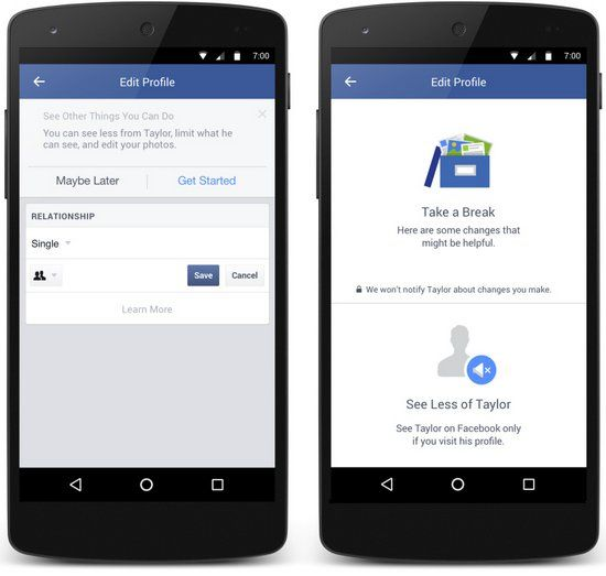 ONE: Facebook presenta herramientas para facilitar la ruptura de relaciones sentimentales
