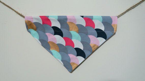 Rainbow dog bandana  over the collar dog by PawsitiveShopping
