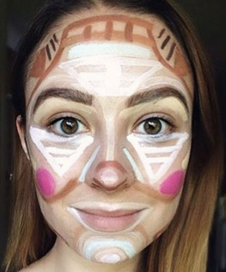 """Clown Contouring Makeup Trend Pictures   YouTuber and Instagram users use """"Clown Contouring"""" to shut down makeup-shaming haters. #refinery29 http://www.refinery29.com/2015/07/90773/clown-contouring-makeup-trend"""