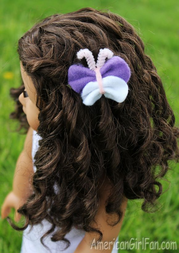 How To Make A Felt Butterfly Hair Clip For American Girl