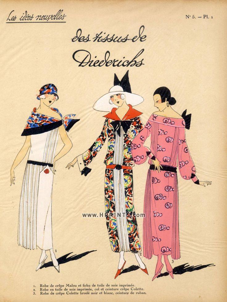 1923 diederichs fabric 39 39 les id es nouvelles de la mode for Pochoir deco