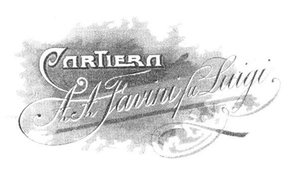 #Logo #Cartiera A. A. #Favini fu Luigi