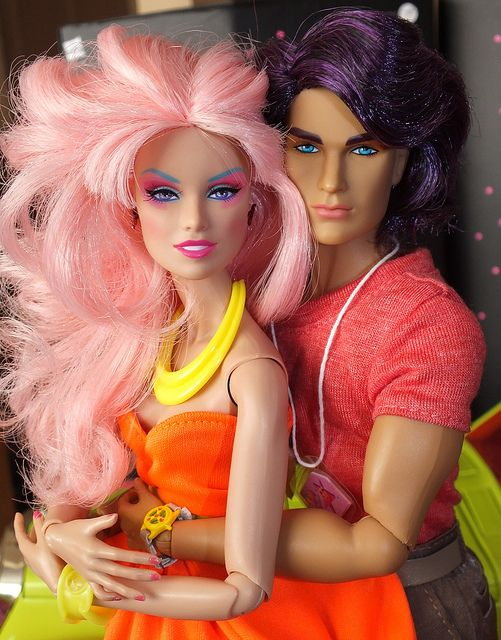 They completely redid the whole doll line, look how modern they are now. Jem & Rio