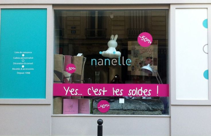 vitrine soldes, vitrine Nanelle, vitrine soldes Nanelle, vitrine soldes 2013,