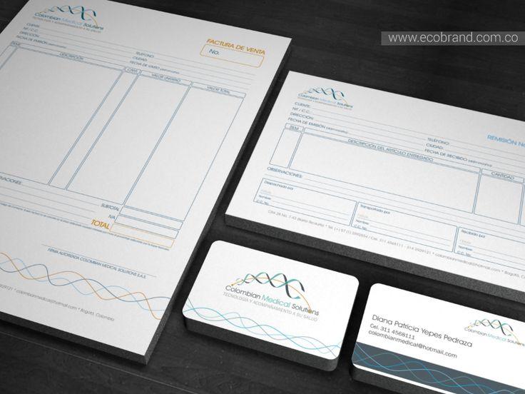 #Diseño de identidad y su aplicación en la papelería básica como parte de la estrategia de #posicionamiento de la #marca Colombian Medical Solutions.