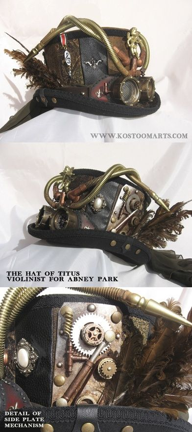 look at that awesome steampunk top hat fully decked out ;)
