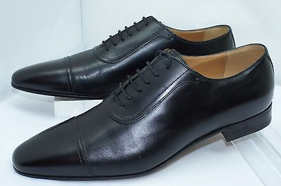 c9a41aa19fd New Gucci Mens Oxfords Betis Glamour Black Shoes Size G 9.5 Lace Up Leather