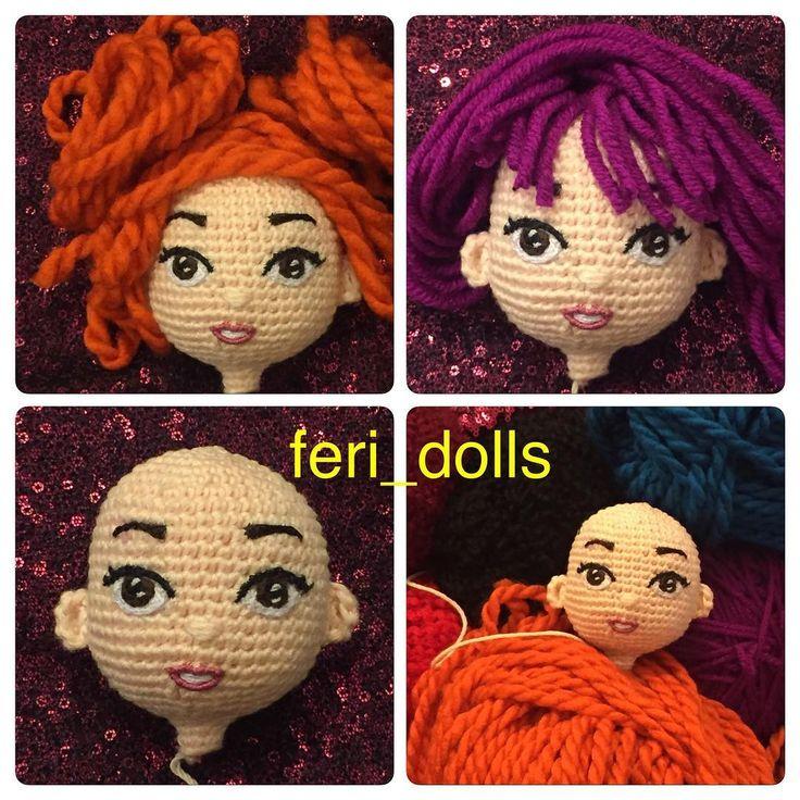 "243 Beğenme, 21 Yorum - Instagram'da feri-dolls (@feri_dolls): ""دوستان  هيچ كدوم از مو ها نصب نشده  فقط با كاموا مانور دادم"""
