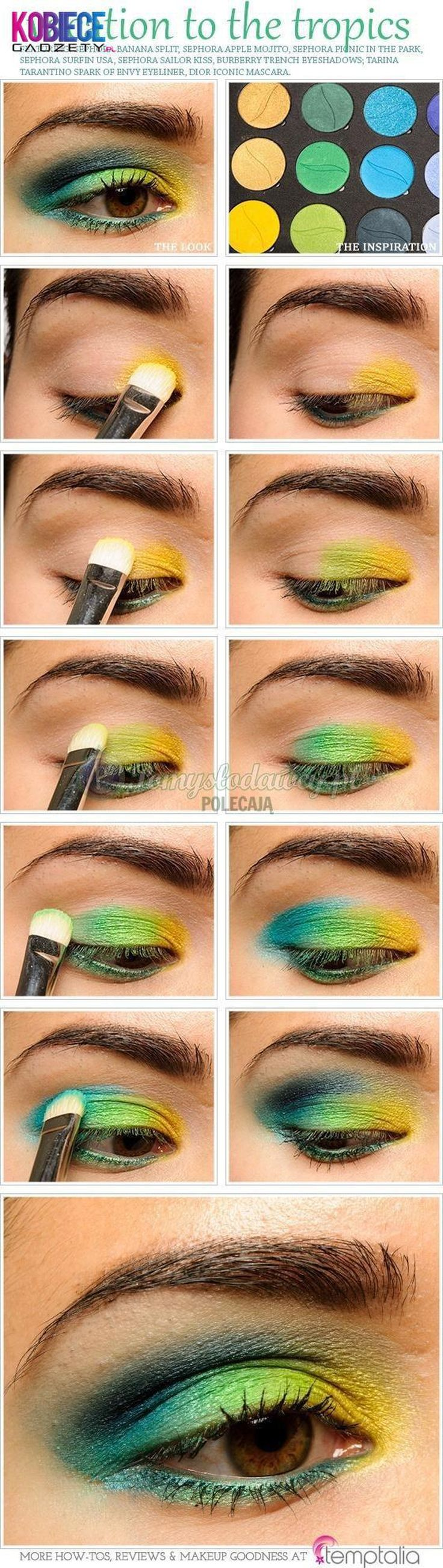 Wakacyjny makijaż oka