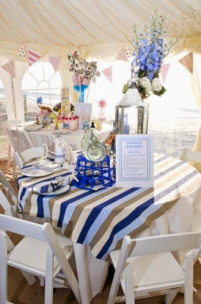 Nautical Table Decorations For Weddings |  Http://simpleweddingstuff.blogspot.com/