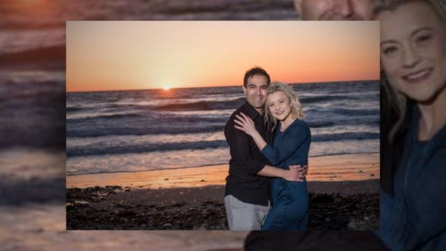 Sunset Beach Engagement Session by www.hollyireland.com in Carlsbad CA.