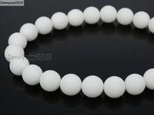 Mate 8mm Matné bílé Alabaster drahokamy přírodní kameny Kulaté Kulové Distanční Loose Korálky 15 '' 5 pramenů / Package (Čína (pevninská část))