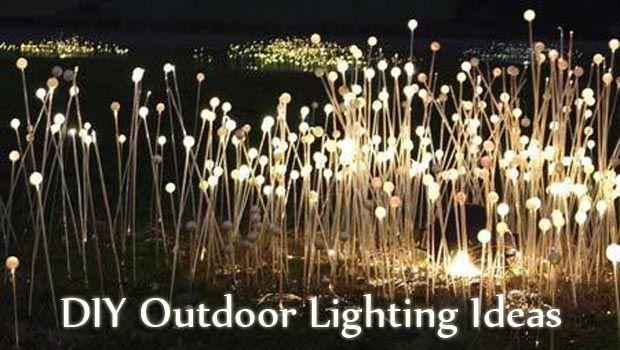 diy outdoor lighting ideas hanging tea lights diy outdoor lighting