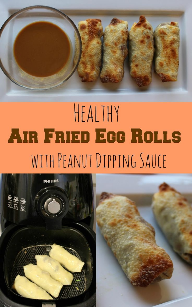 Air fryer egg rolls stuffed with shrimp and veggies give you all the yummy flavors of a traditional chinese egg roll but without all the ex...