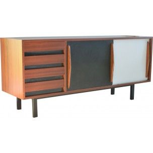 Mahogany sideboard with 4 drawers, Charlotte PERRIAND - 1950s
