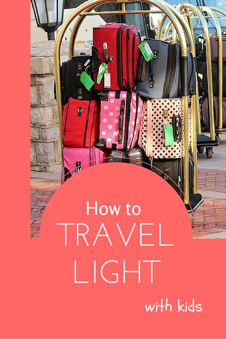 How to pack light with kids. Tips on how to cut down how much you pack when…