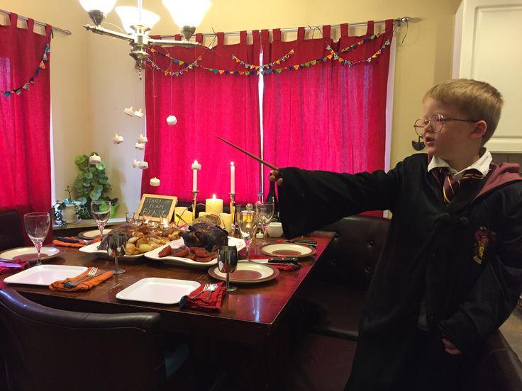 Harry Potter start of term feast.  family dinner.