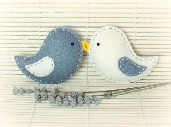 Felt Bird Ornaments Home Decor