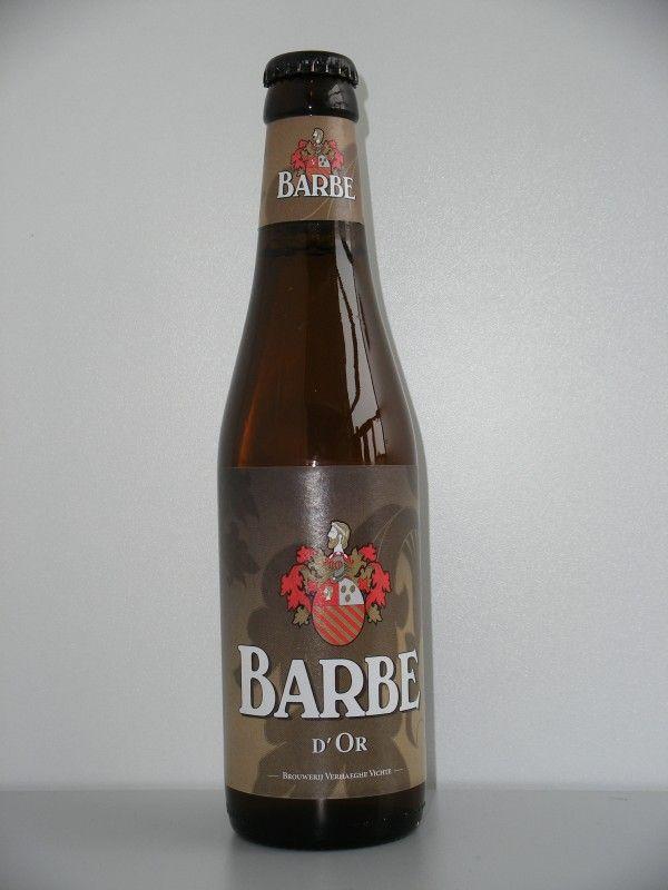 Cerveja Barbe d'Or, estilo Belgian Blond Ale, produzida por Verhaeghe, Bélgica. 7.5% ABV de álcool.