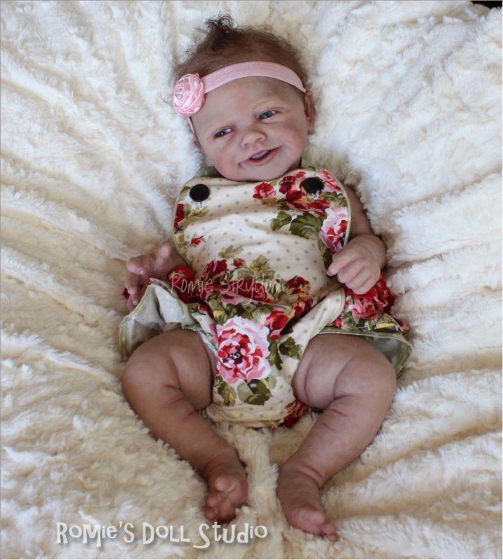 * Un bebé de cuerpo completo de las muñecas de Romie * * Muñeca de silicona sólida esculpido & Reborn por las muñecas de Romie Strydom