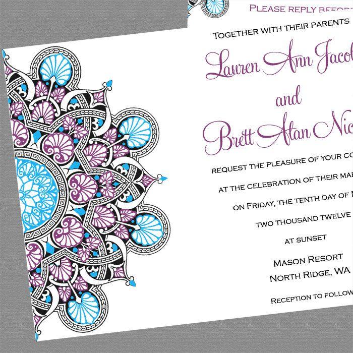 ethnic stargaze wedding invitations sample 299 via etsy gypsy boho
