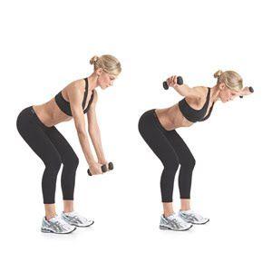 Back exercise w dumbells.