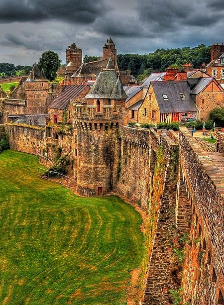 Chateau de Fougeres, Brittany, France by Olivia Taylor. Birthplace of Jeanne de Fougeres, 23rd paternal grandmother