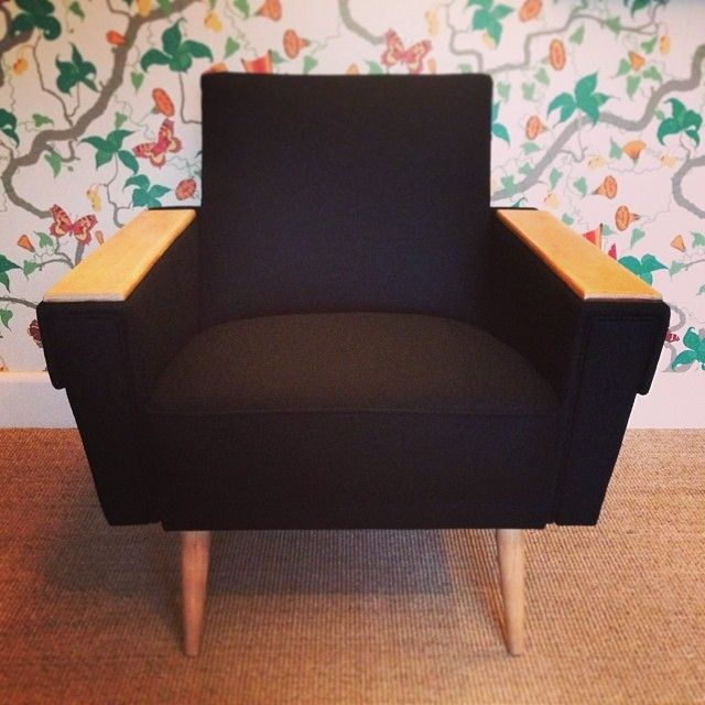 Retro vintage post war re-upholstery