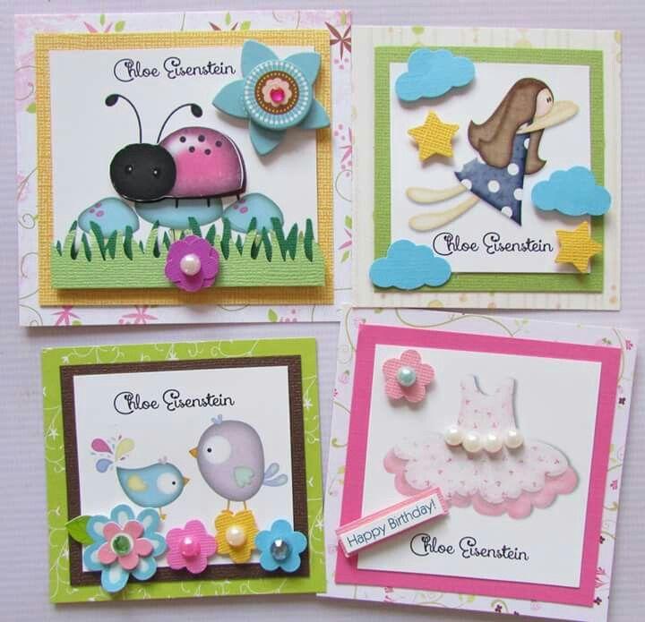 Tarjetas de presentación para niñas Facebook crafts by iris / instagram @craftsbyiris