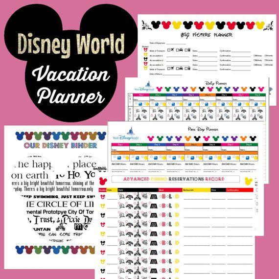 Disney World Vacation Planner Binder Set for 8 Day Trip ...
