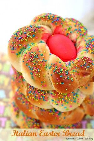 Italian Easter breads from Roxanashomebaking.com Fluffy, slightly sweet, rich and soft, like a brioche, flavored with generous amount of lemon zest and a touch of ground aniseed