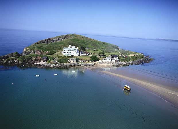 Burgh Island - where we were married.
