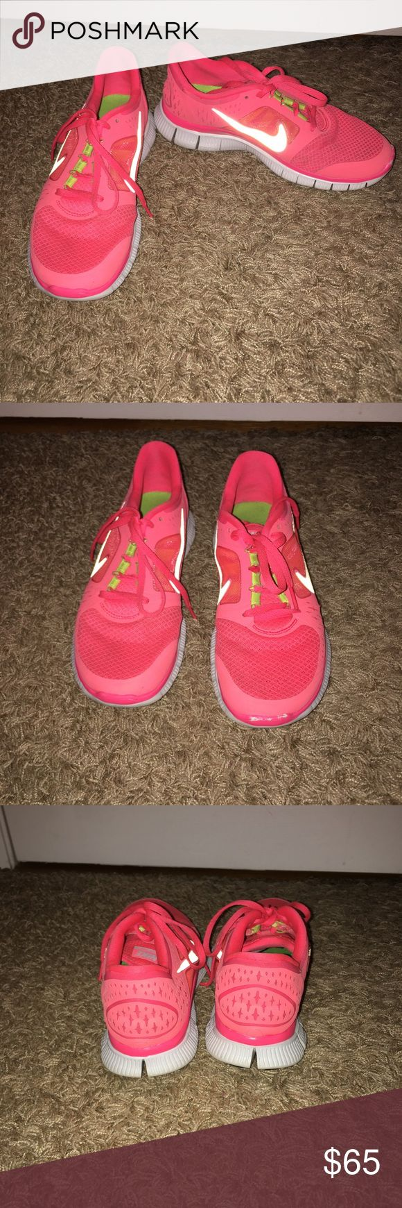Nike free runs $65 OBO Women's 7.5 only thing wrong is scuff on the one shoe Nike Shoes Athletic Shoes