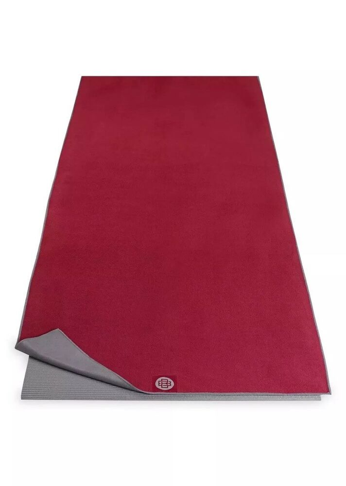 Banyan Bo By Gaiam Dual Grip Yoga Mat Towel 26 X 72 Burgundy Gray Ebay Hot Yoga Mat Hot Yoga Mat Towel Yoga Mat Towel