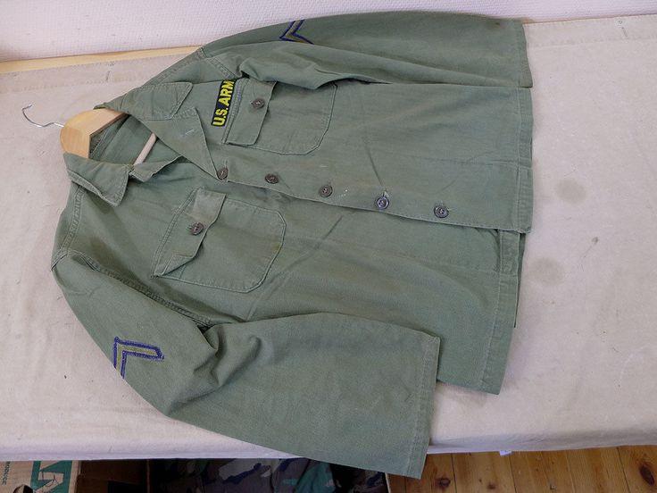 #04 US ARMY USMC WW2 / Vietnam HBT Feldjacke Feldhemd Drillich Uniform Twill   eBay