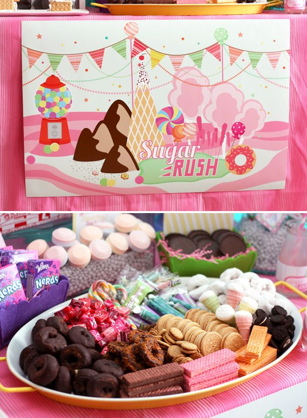 Wreck it Ralph / Sugar Rush Birthday Party @Samantha Cossett :) I saw on facebook the theme you thinking about for her birthday and saw this!!