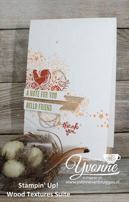 Yvonne Stampin '& Scrapping: Stampin' Up! Wood Textures Suite, Wood Words #stampingsunday #stampinup